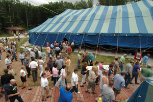 A view of the tent at Big Top Chautauqua - 2005